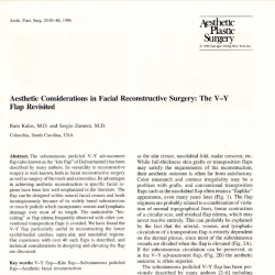 Aesthetic Considerations in Facial Reconstructive Surgery: The V-Y Flap Revisited